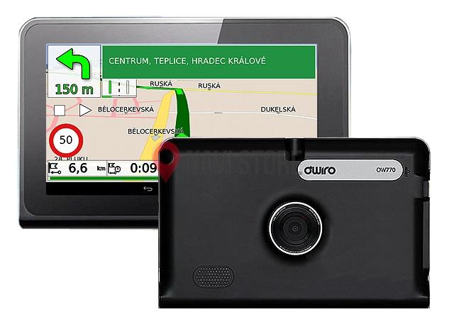 """GPS navigace - 7.0"""" GPS navigace OWIRO pro kamiony s WI-FI a DVR kamerou LIFETIME - OW770"""