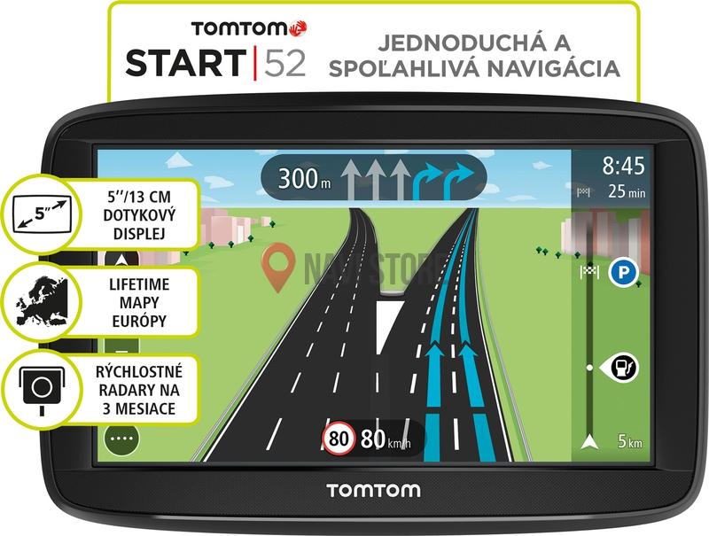 GPS navigace - TomTom Start 52 Lifetime