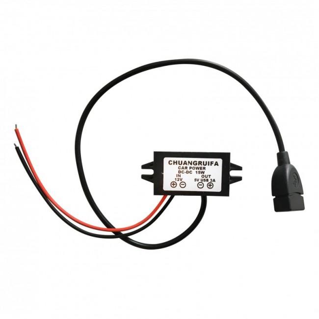 GPS lokátory - Tractive adaptér do auta 12V / 5V USB
