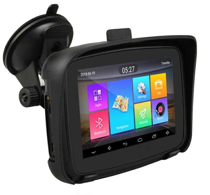 """GPS navigace - 5"""" voděodolná MOTO GPS navigace android, bluetooth, wifi - lifetime"""