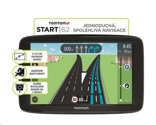 GPS navigace - TomTom Start 62 Lifetime