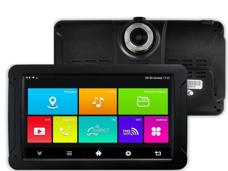 """GPS navigace - 7.0"""" GPS navigace NS725 s DVR kamerou, wifi, bluetooth - TRUCK, KARAVAN i OA"""