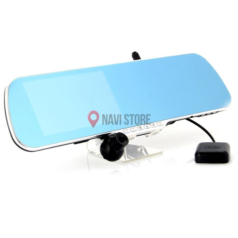 """GPS navigace - 5"""" GPS navigace ve zpětném zrcátku s DVR a parkovací kamerou OA, zrc5"""